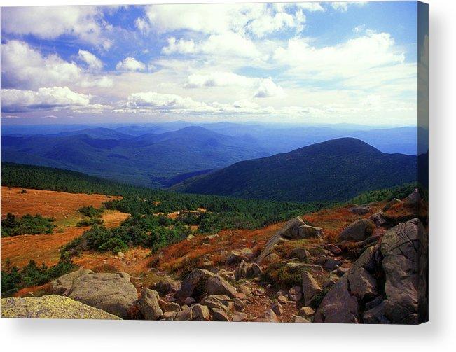 New Hampshire Acrylic Print featuring the photograph Mount Moosilauke Summit by John Burk