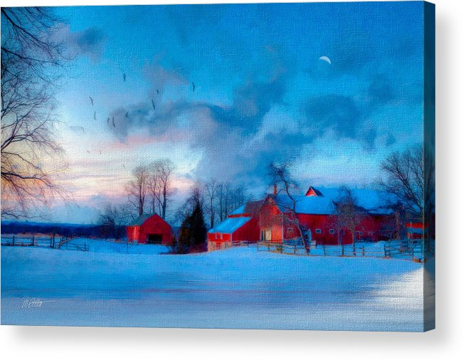 Snow Acrylic Print featuring the New England Winter by Michael Petrizzo