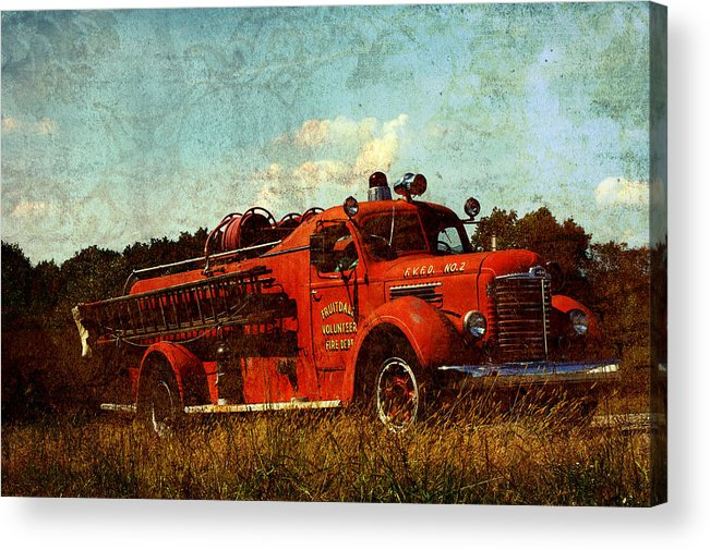 Fire Truck Acrylic Print featuring the photograph Old Fire Truck by Off The Beaten Path Photography - Andrew Alexander