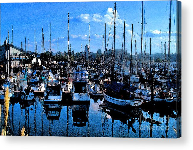Capital Acrylic Print featuring the photograph Percival Landing by Larry Keahey