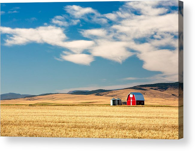 Red Acrylic Print featuring the photograph Prairie Red by Todd Klassy