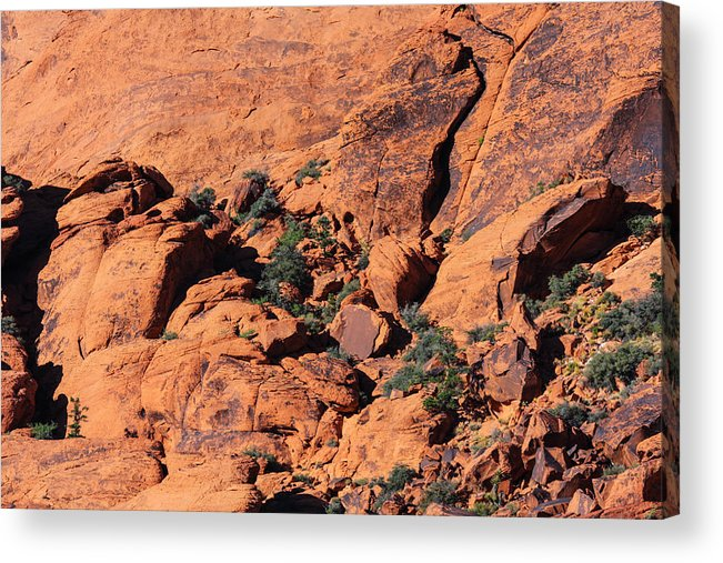 Red Rock Acrylic Print featuring the photograph Red Rocks by William Rogers