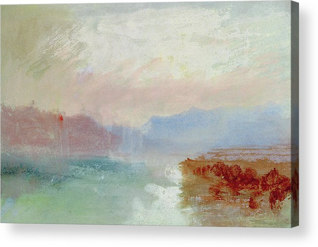 River Scene Acrylic Print featuring the painting River Scene by Joseph Mallord William Turner