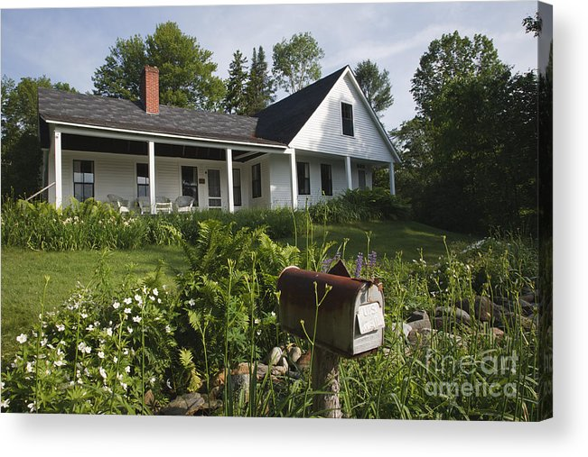 White Mountain National Forest Acrylic Print featuring the photograph Robert Frost Homestead - Franconia New Hampshire Usa by Erin Paul Donovan