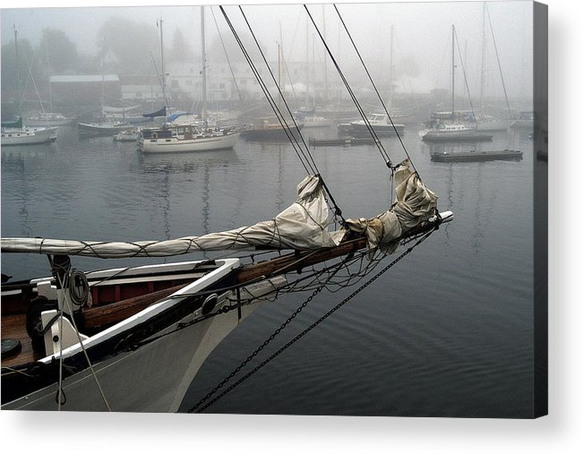 Boats Acrylic Print featuring the photograph Sailing On Hold by Neil Doren