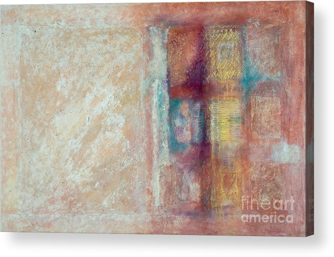 Mixed-media Acrylic Print featuring the painting Spirit Matter Cosmos by Kerryn Madsen-Pietsch