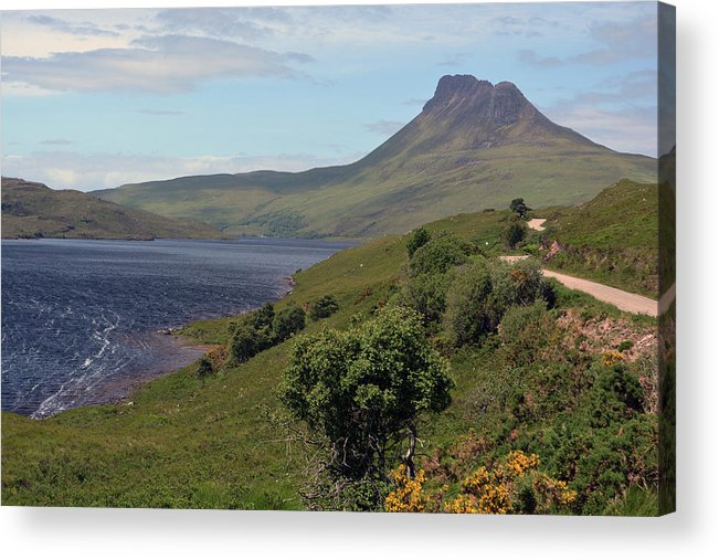 Loch Acrylic Print featuring the photograph Stac Pollaidh by Steve Watson