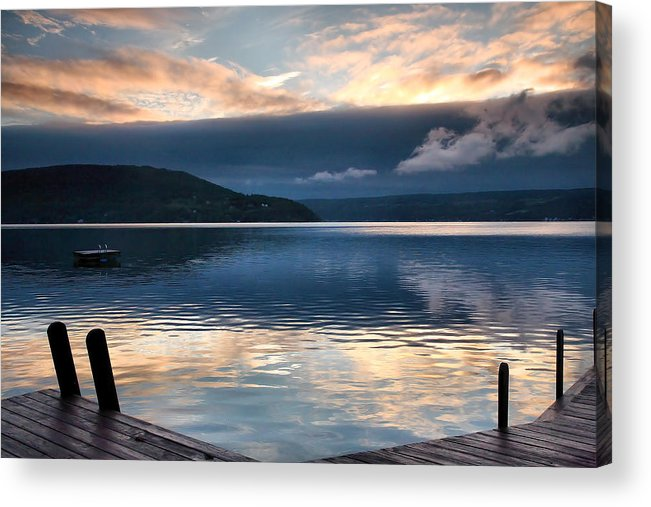 Keuka Lake Acrylic Print featuring the photograph Storm Clearing by Steven Ainsworth