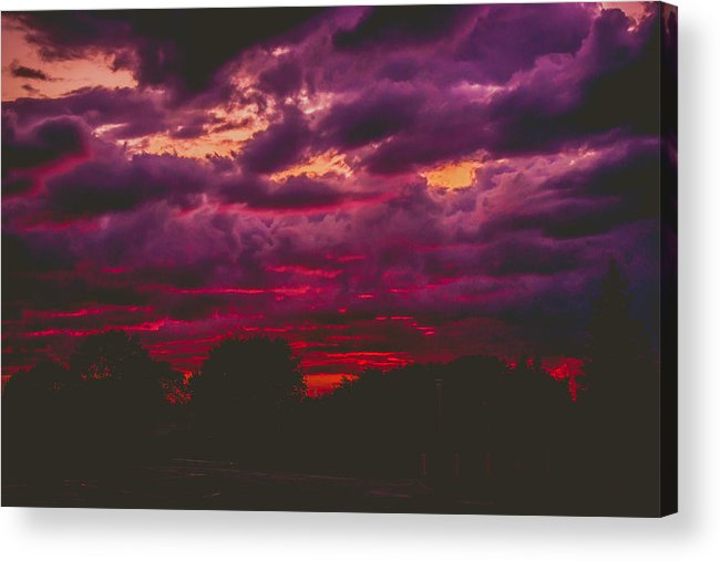Summer Acrylic Print featuring the photograph Stormy Sunset by Kristin Hunt