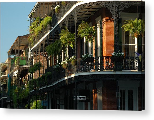 New Orleans Acrylic Print featuring the photograph Streets Of New Orleans by Lori Mellen-Pagliaro