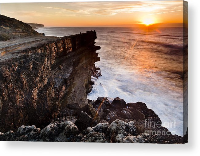Architecture Acrylic Print featuring the photograph Sunset In The Portuguese Coast by Andre Goncalves