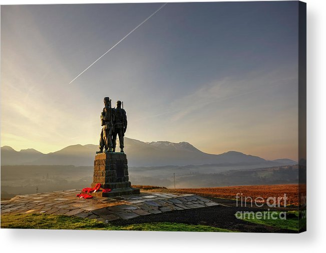 Spean Bridge Acrylic Print featuring the photograph The Commando Memorial, Spean Bridge Scotland 1 by Alba Photography