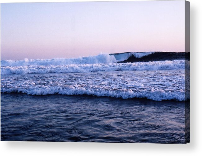 Sunset Acrylic Print featuring the photograph Three Waves by Lyle Crump