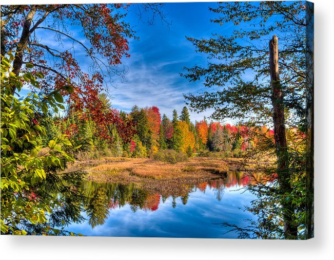 View From The Lock And Dam Trail Acrylic Print featuring the photograph View From The Lock And Dam Trail by David Patterson