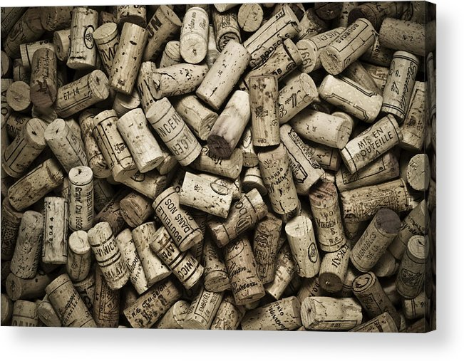 Frank Tschakert Acrylic Print featuring the photograph Vintage Wine Corks by Frank Tschakert
