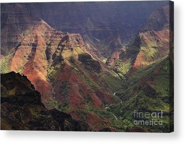 Waimea Acrylic Print featuring the photograph Waimea Canyon by Neil Doren