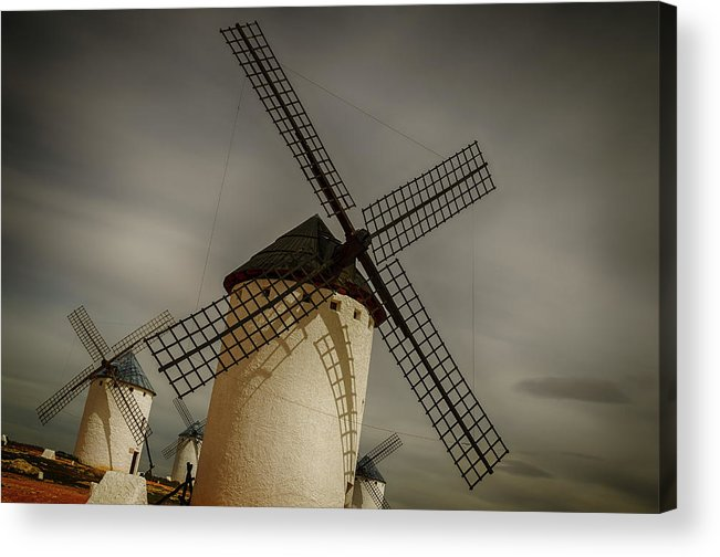 Campo De Criptana Acrylic Print featuring the photograph Windmills At Campo De Criptana by Pablo Lopez