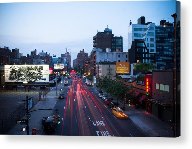 Nyc Acrylic Print featuring the photograph 10th Avenue Lights by Robert J Caputo
