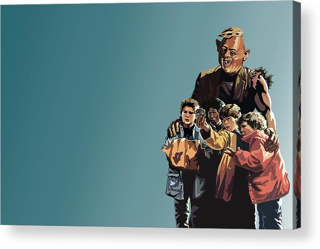 The Goonies Acrylic Print featuring the digital art 112. Never Say Die by Tam Hazlewood