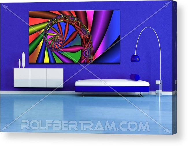 Acrylic Print featuring the digital art An Example Of Modern Art By Rolf Bertram In An Interior Design Setting by Rolf Bertram