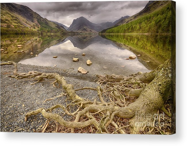 Buttermere Acrylic Print featuring the photograph Buttermere by Smart Aviation
