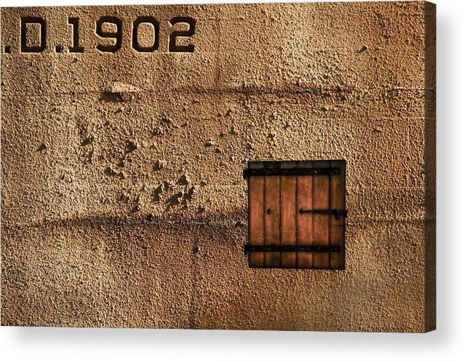 Jail Acrylic Print featuring the photograph 1902 by Evelina Kremsdorf