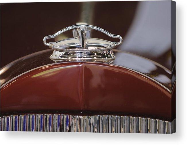 1931 Packard 840 Roadster Acrylic Print featuring the photograph 1931 Packard 840 Roadster Hood Ornament by Jill Reger