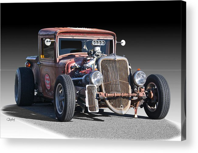 Acrylic Print featuring the photograph 1933 Ford Pu Rat Rod II by Dave Koontz