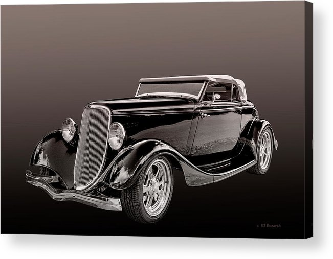 1934. Ford Acrylic Print featuring the digital art 1934 Ford Roadster by RT Bozarth