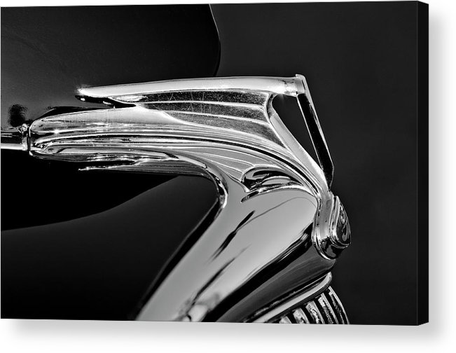 1935 Ford V8 Acrylic Print featuring the photograph 1935 Ford V8 Hood Ornament 5 by Jill Reger