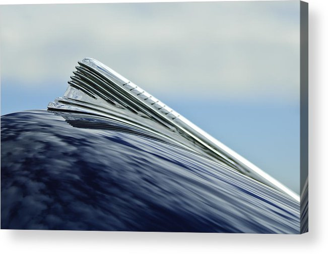 1941 Chevy Acrylic Print featuring the photograph 1941 Chevrolet Hood Ornament 2 by Jill Reger