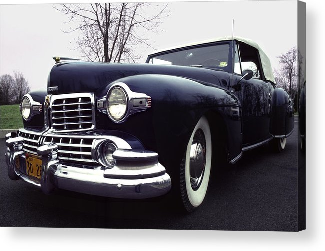 Lincoln Acrylic Print featuring the photograph 1947 Classic Lincoln Ragtop On Moody Day by Anna Lisa Yoder