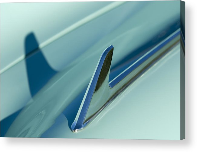 1954 Chevrolet Acrylic Print featuring the photograph 1954 Chevrolet Hood Ornament 2 by Jill Reger