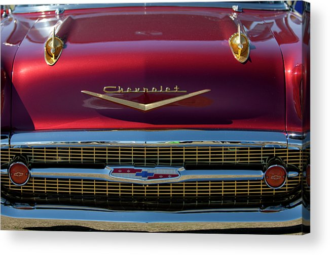 1957 Chevrolet Acrylic Print featuring the photograph 1957 Chevrolet Grille by Jill Reger