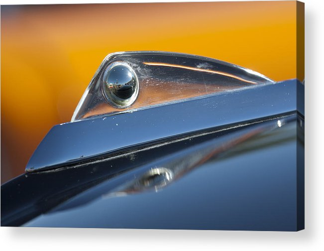 1961 Ford Starliner Acrylic Print featuring the photograph 1961 Ford Starliner Hood Ornament by Jill Reger
