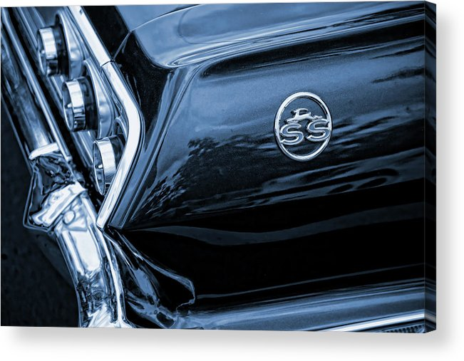 1963 Acrylic Print featuring the photograph 1963 Chevy Impala Blue 1963 by Gordon Dean II