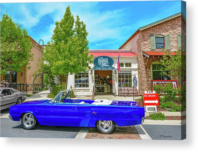 1967 Acrylic Print featuring the digital art 1967 Dodge R/t by RT Bozarth