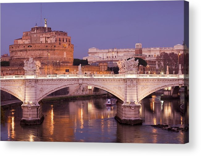Castel Acrylic Print featuring the photograph Castel Sant'angelo by Andre Goncalves