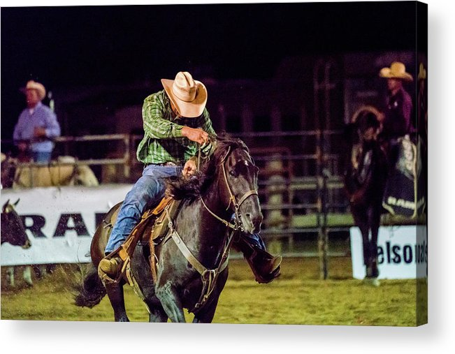 Rodeo Acrylic Print featuring the photograph Cowboy by Glenn Matthews
