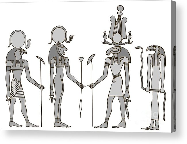 Apis Acrylic Print featuring the digital art Gods Of Ancient Egypt by Michal Boubin