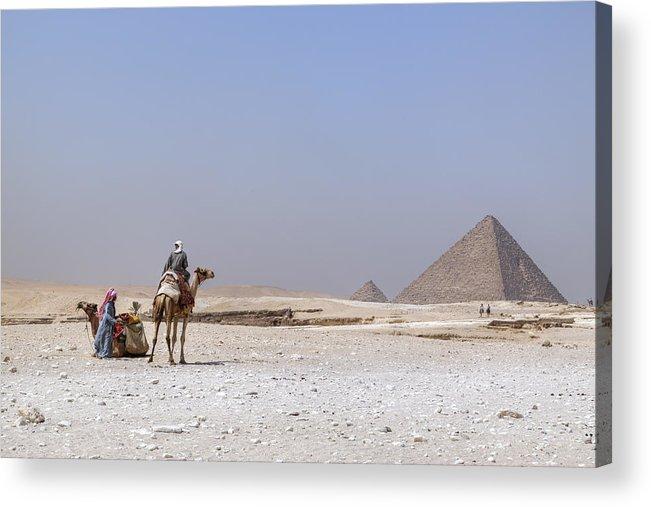 Great Pyramids Of Giza Acrylic Print featuring the photograph Great Pyramids Of Giza - Egypt by Joana Kruse