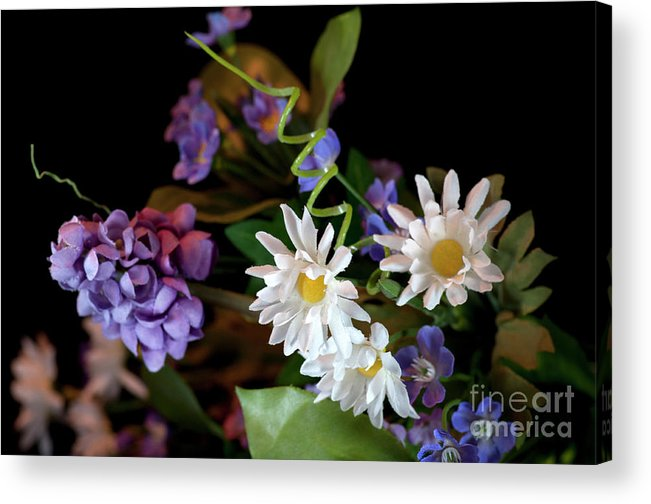 Flower Photograph Acrylic Print featuring the photograph Home Made Flowers by David Hollingworth