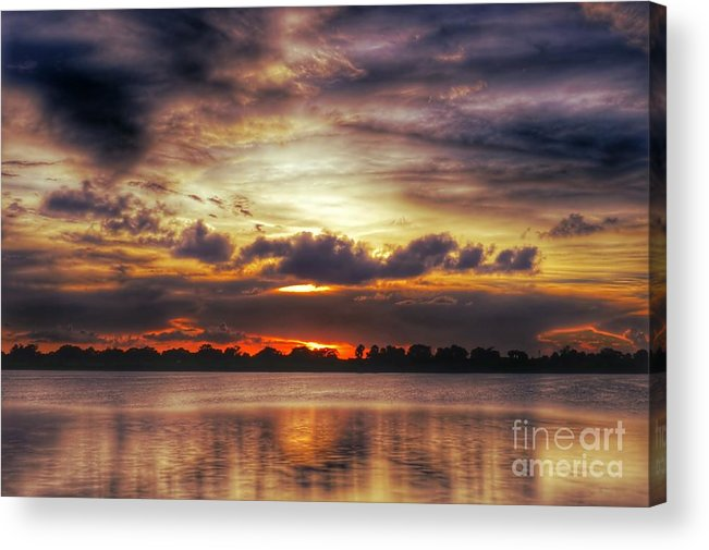 Acrylic Print featuring the photograph Layered Clouds by Glenn Forman