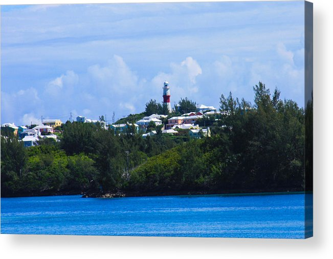 Light House In Bermuda Acrylic Print featuring the photograph Light House by William Rogers