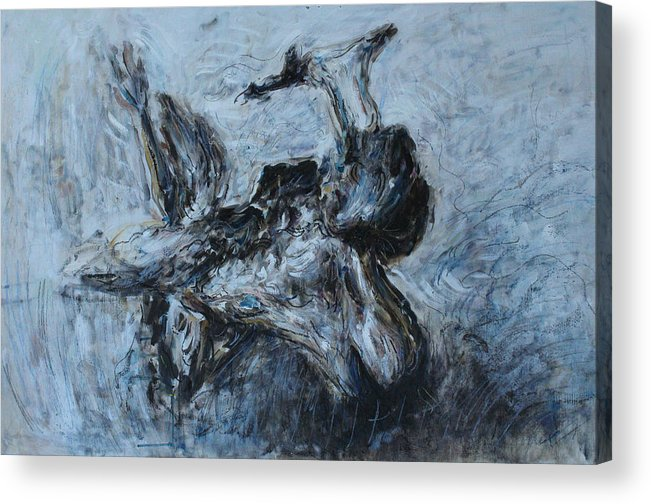 Painting Acrylic Print featuring the painting Lux Natura by Alexander Carletti