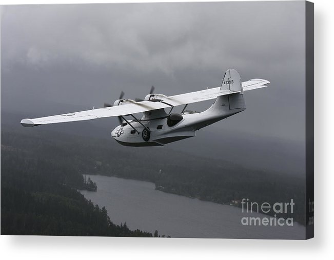 Transportation Acrylic Print featuring the photograph Pby Catalina Vintage Flying Boat by Daniel Karlsson