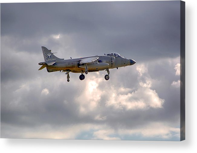 Royal Navy Acrylic Print featuring the photograph Royal Navy Sea Harrier by Chris Smith