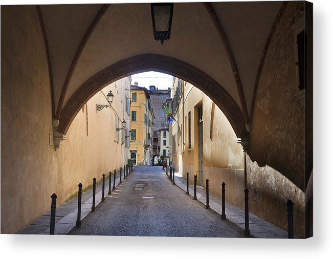 Ancient Acrylic Print featuring the photograph Streets Of Brescia by Andre Goncalves