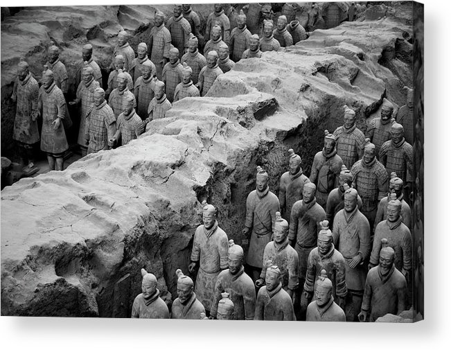 Ancient Acrylic Print featuring the photograph The Terracotta Army by Sami Sarkis