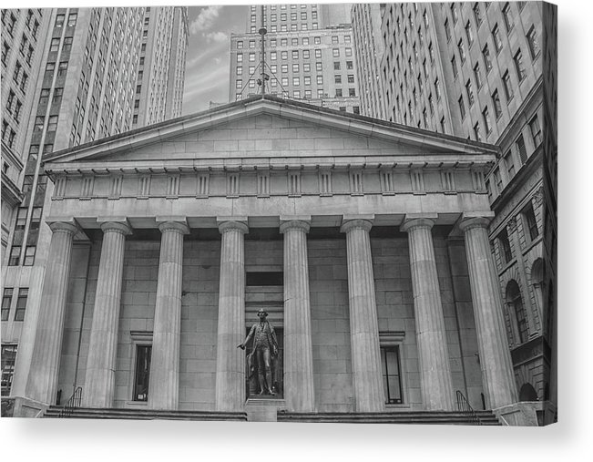 Street Acrylic Print featuring the photograph Wall Street by Martin Newman